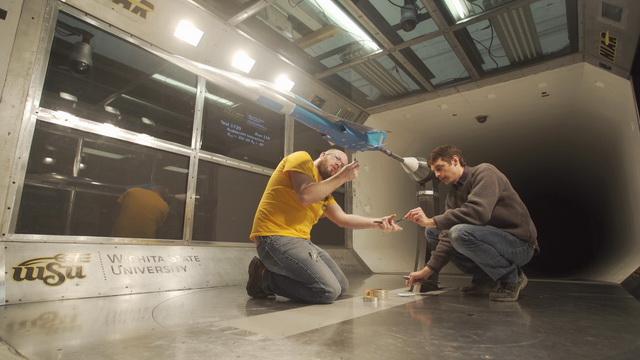 Изпитанията на мини-прототипа Baby Boom в аеродинамичен тунел