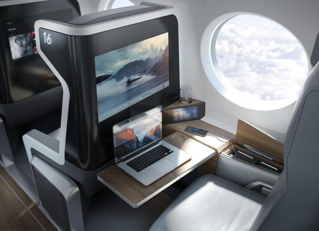 Креслата в Boom ще имат всички функционалности на съвременната бизнес класа, включително напълно хоризонтираща седалка.