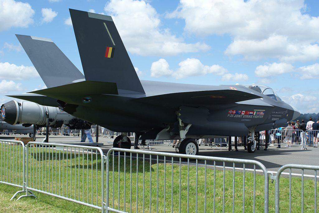 Макет на F-35 за белгийските ВВС