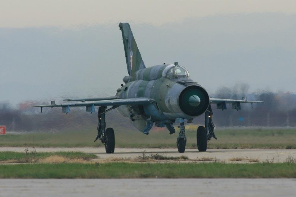 Миг-21бисД на хърватските ВВС