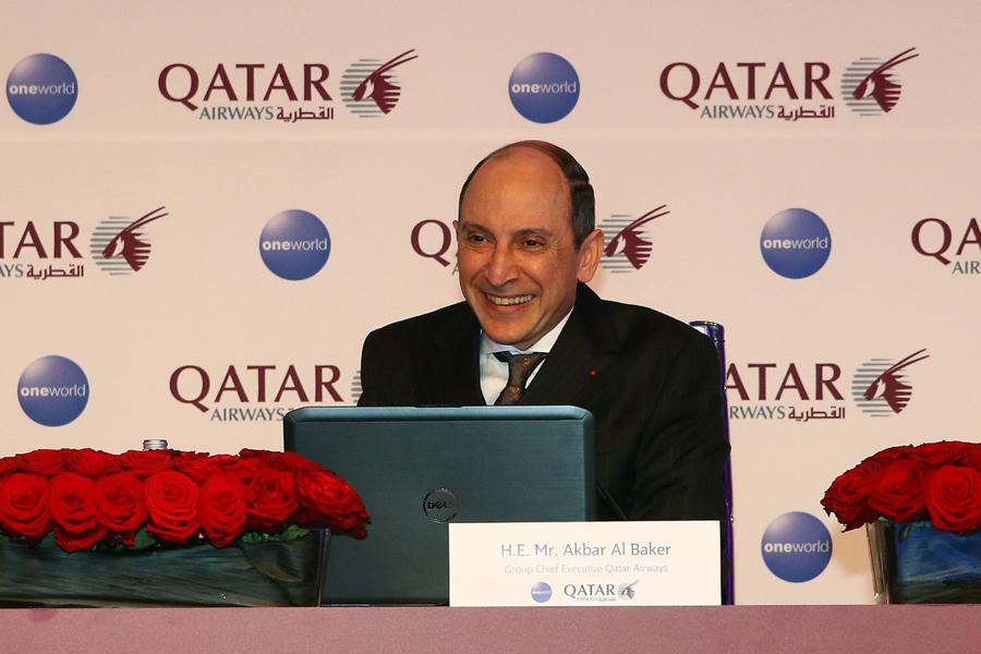 Акбар ал Бакер на авиошоуто в Берлин 2016, когато обяви намеренията си за Meridiana