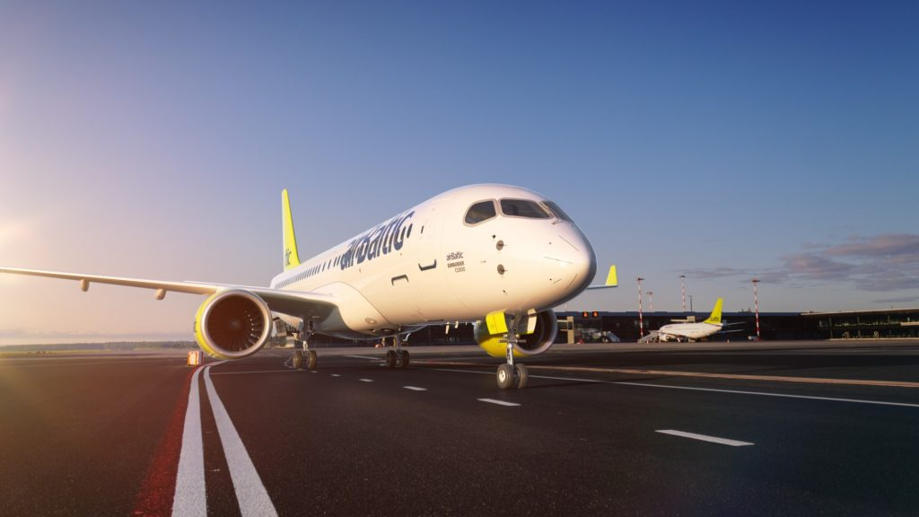 Air Baltic е първият света оператор на Bombardier CS300 - забележителен самолет за средни разстояния с до 120 места на борда.