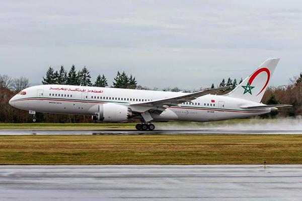 Boeing 787-8 е сегашния флагман в мароканския флот