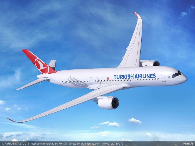 А350-900 ще позволи на Търкиш да лети нонстоп практически до всяка точка на планетата