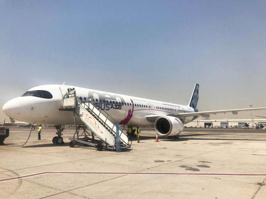 A321LR на Сейшелите. Това е самолетът, който може да преобърне играта в трансатлантическите пътувания.