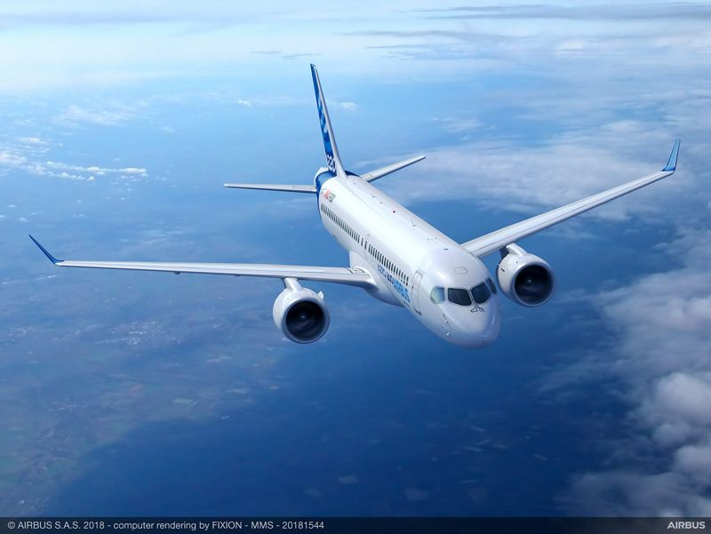 A220-300 - новото име на Bombardier CS300
