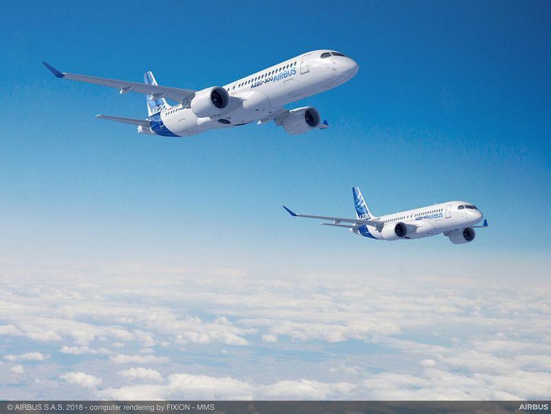 """""""Новото"""" най-малко семейство на Airbus, е осиновеното CSeries на Bombardier"""