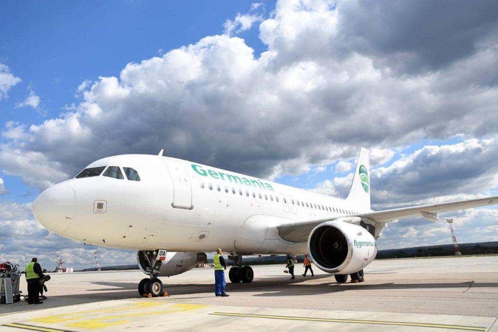 Bulgarian Eagle оперира за Germania два самолета А319. Първият от тях е LZ-AOA, чиято първоначална регистрация в България бе за правителствения Авиоотряд 28