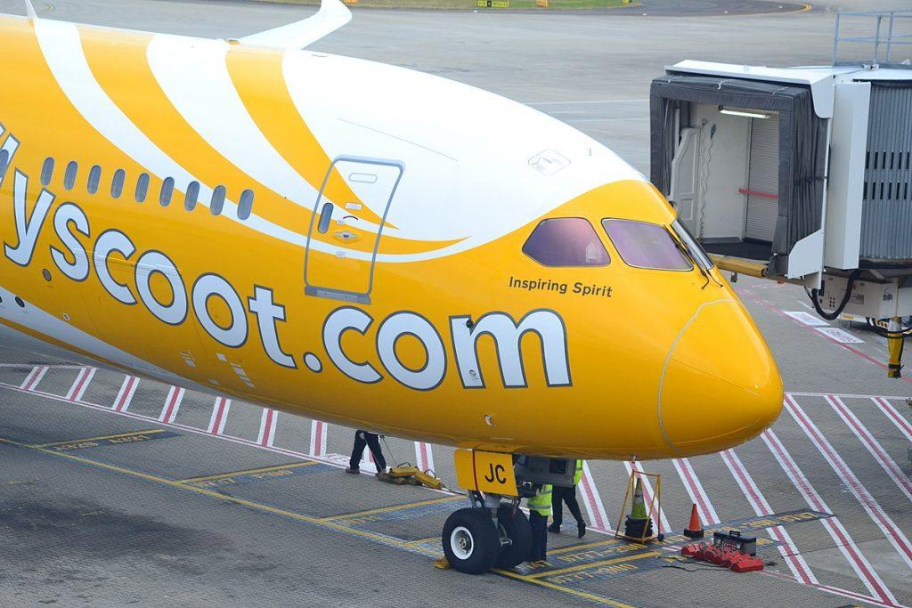 Scoot оперира с флот съставен изцяло от Boeing 787 Dreamliner