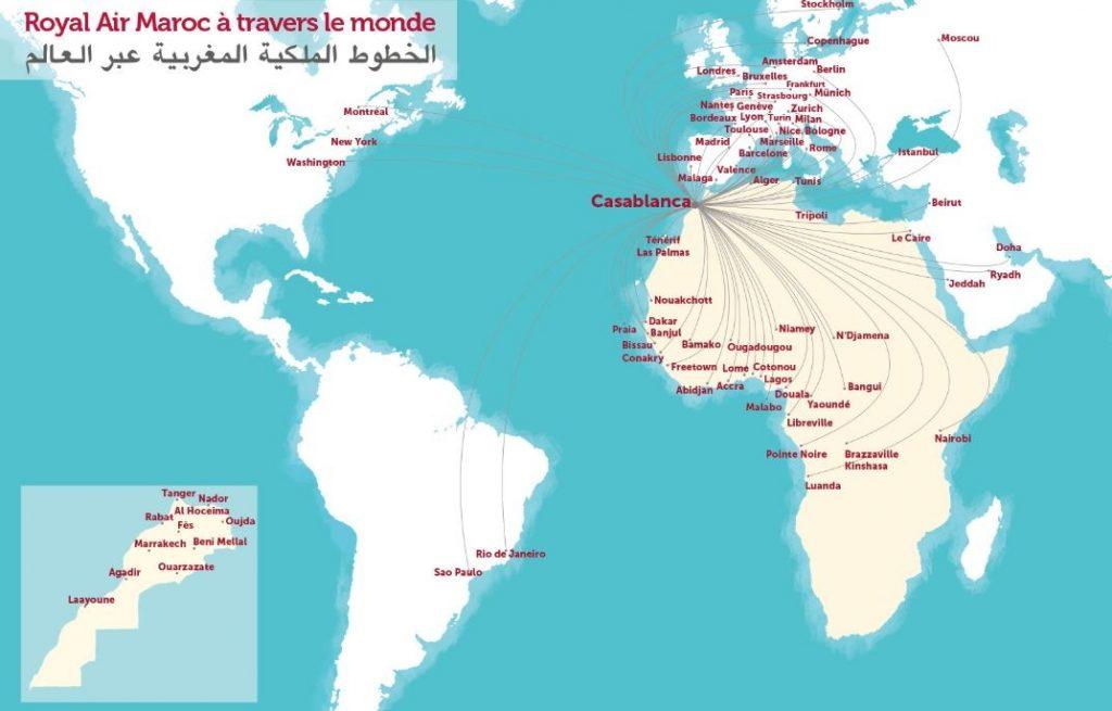 Royal Air Maroc оперира на четири континента до над 97 дестинации
