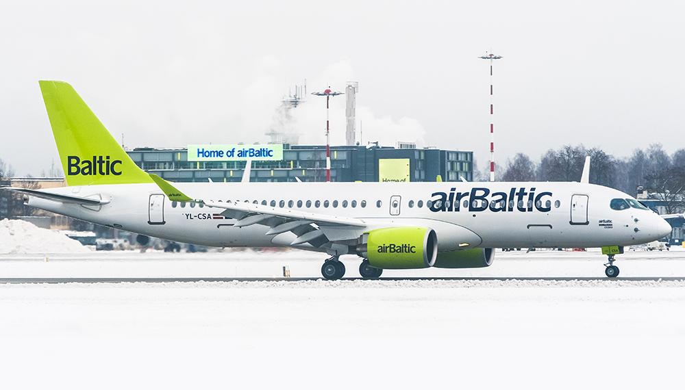 Air Baltic получи 10-ят си Airbus A220-300 в края на януари 2019. Броят на тези самолети във флота трябва да достине внушителните 80.