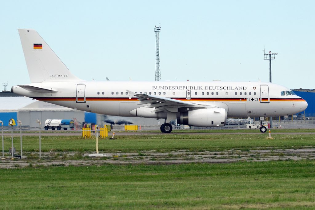 А319, използван основно за полети в континентална Европа от представители с по-нисък ранг в правителството на Германия