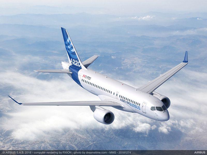 A220-100 - новото име на Bombardier CS100