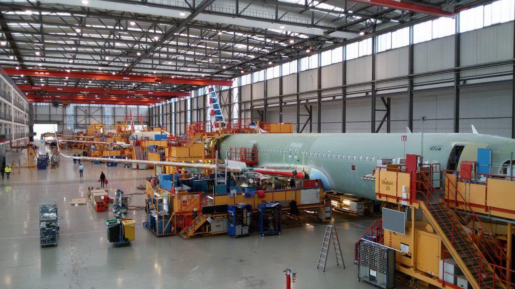 Заводът на Airbus в Хамбург. Снимка: Авиофорум.