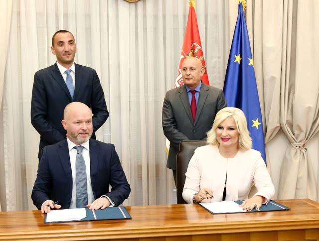 Подписването на споразумението за субсидирани полети между Air Serbia и правителството