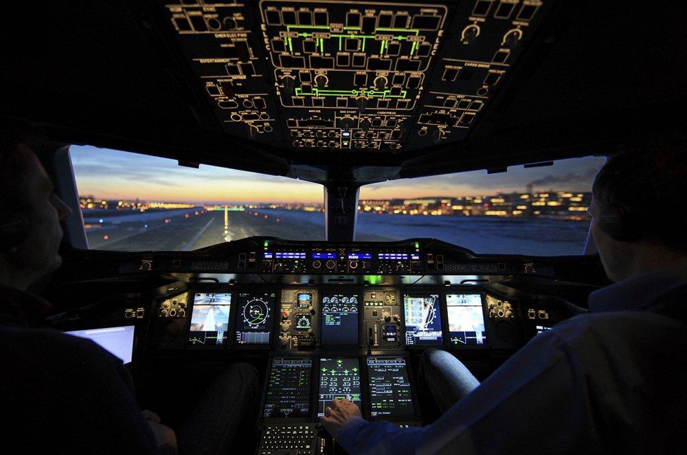 Кокпитът на А380, снимка: Airbus
