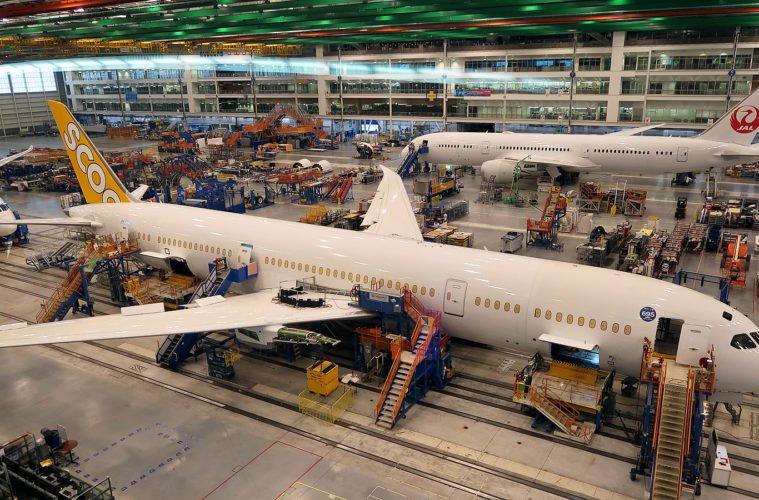 Производствената линия на Боинг 787 в Чарлстън