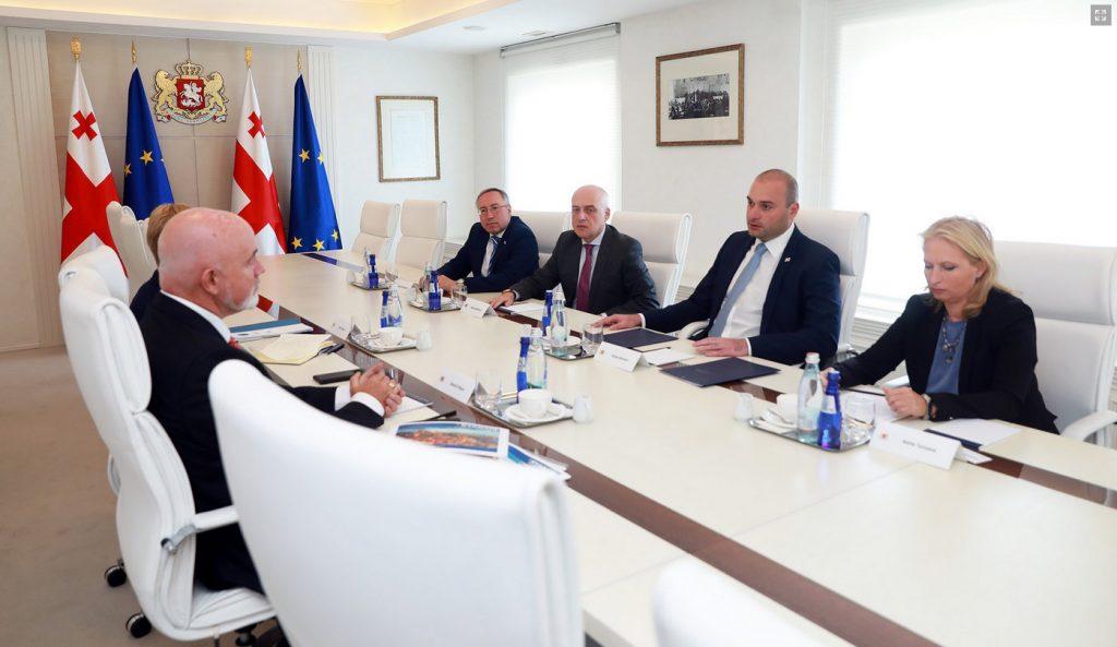 Преговорите на правителството на Грузия с Ryanair. Снимка: правителство на Грузия.