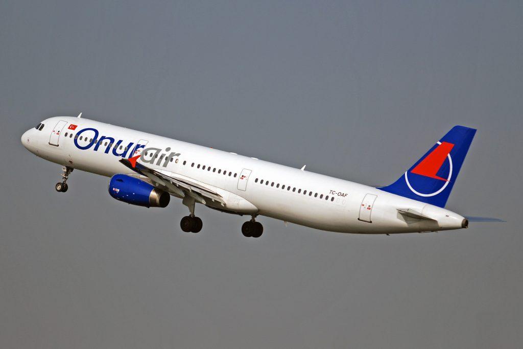 A321-200 в цветовете на Onur Air