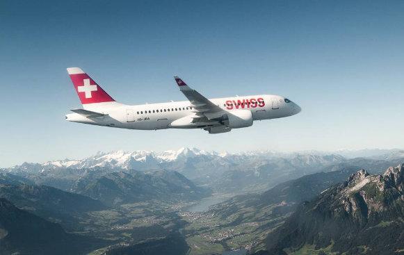 Airbus A220-Suisse. Снимка: Airbus.