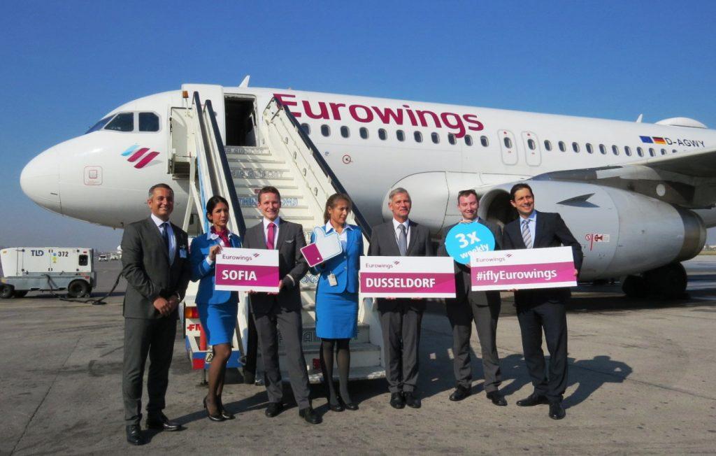 Eurowings, летище София. Снимка: Летище София