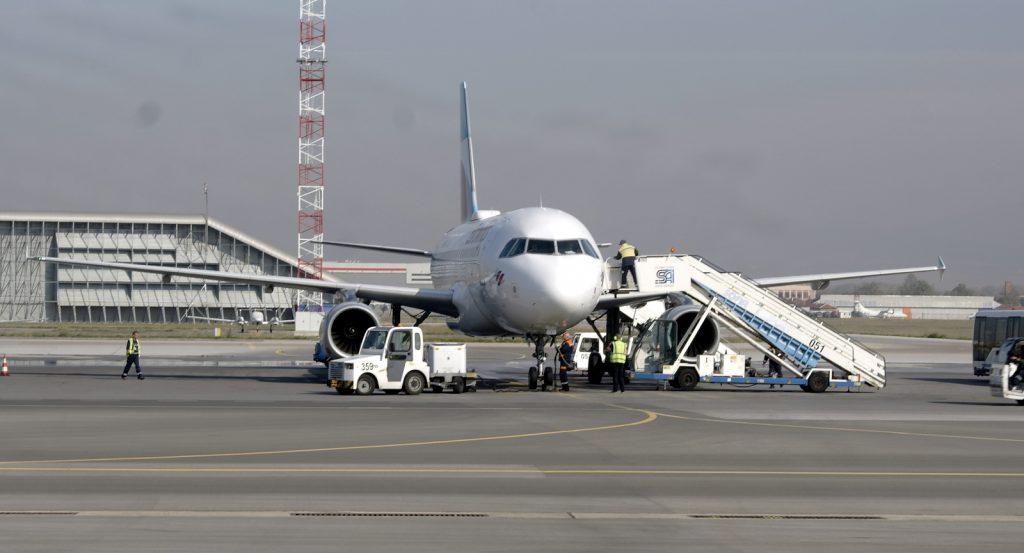 Eurowings Airbus A319, летище София. Снимка: Авиофорум.