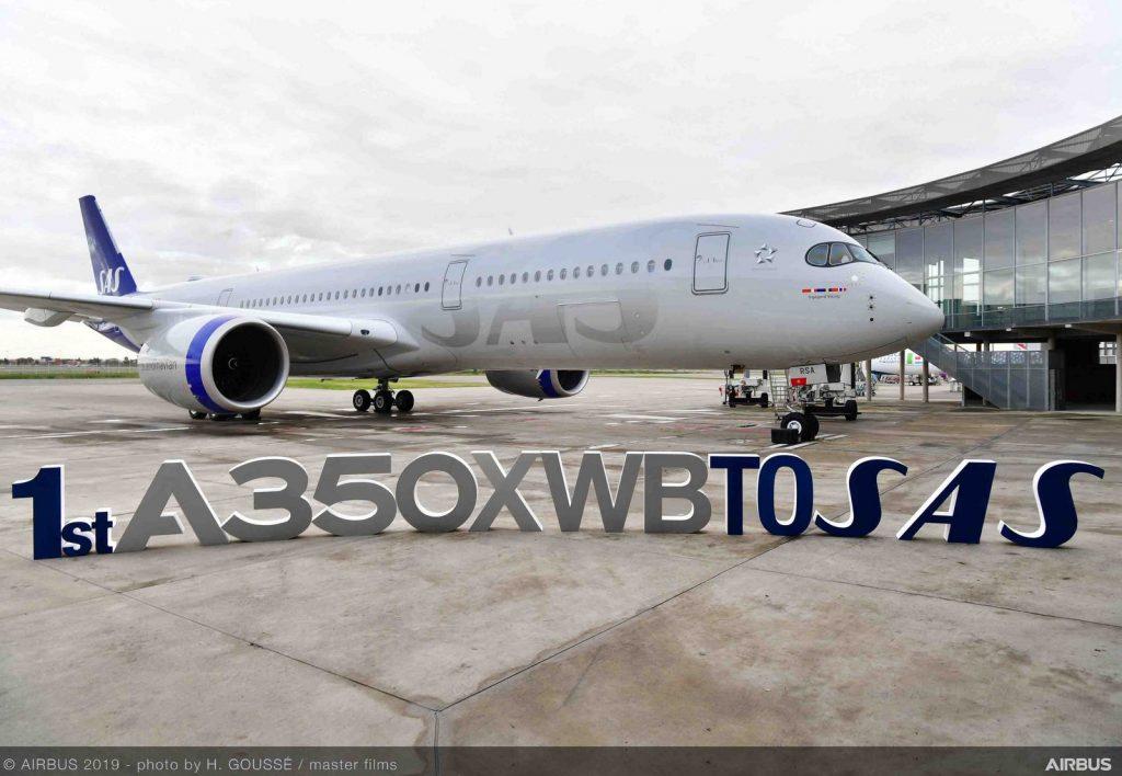 SAS A350-900. Снимка: Airbus