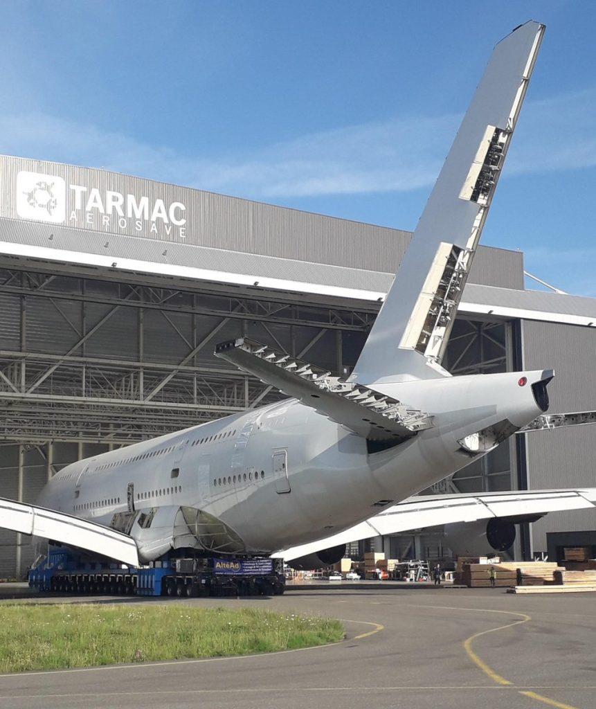 Първият разглобен за скрап и рециклиране А380 летя само 10 години за Singapore Airlines