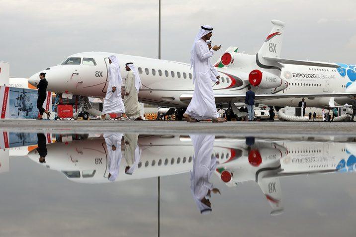 Falcon8X на авиосалона в дубай 2019. Снимка: Dassault Aviation