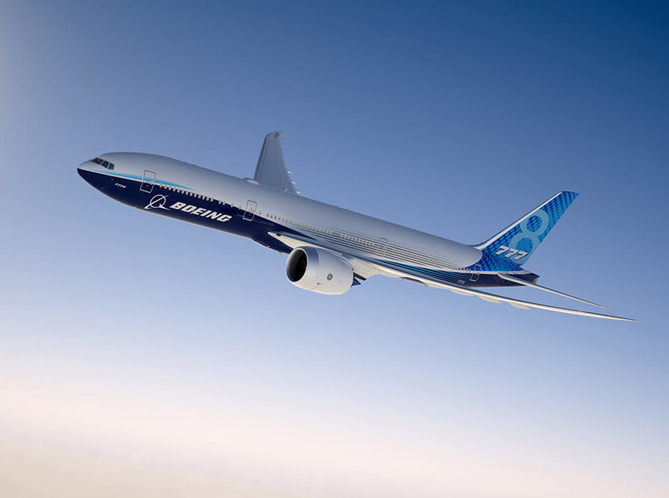 Boeing 777X. Снимка: Boeing