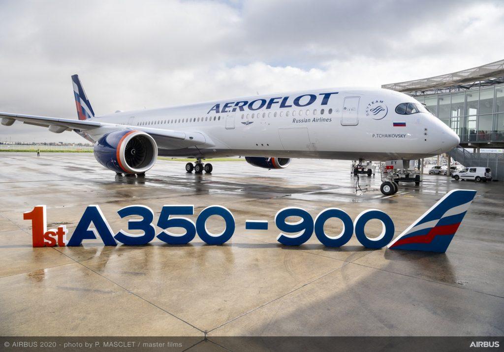 Aерофлот получи първият си А350-900 през септември 2020. Снимка: Airbus