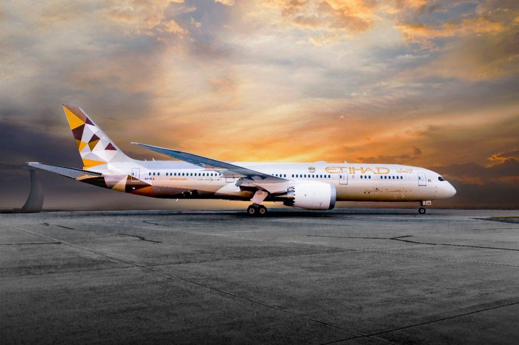 787 Dreamliner. Снимка: Etihad