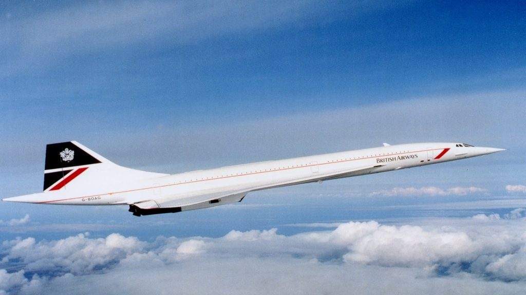 Конкорд в цветовете на British Airways - втората авиокомпания, имала честта да лети с легендарната птица