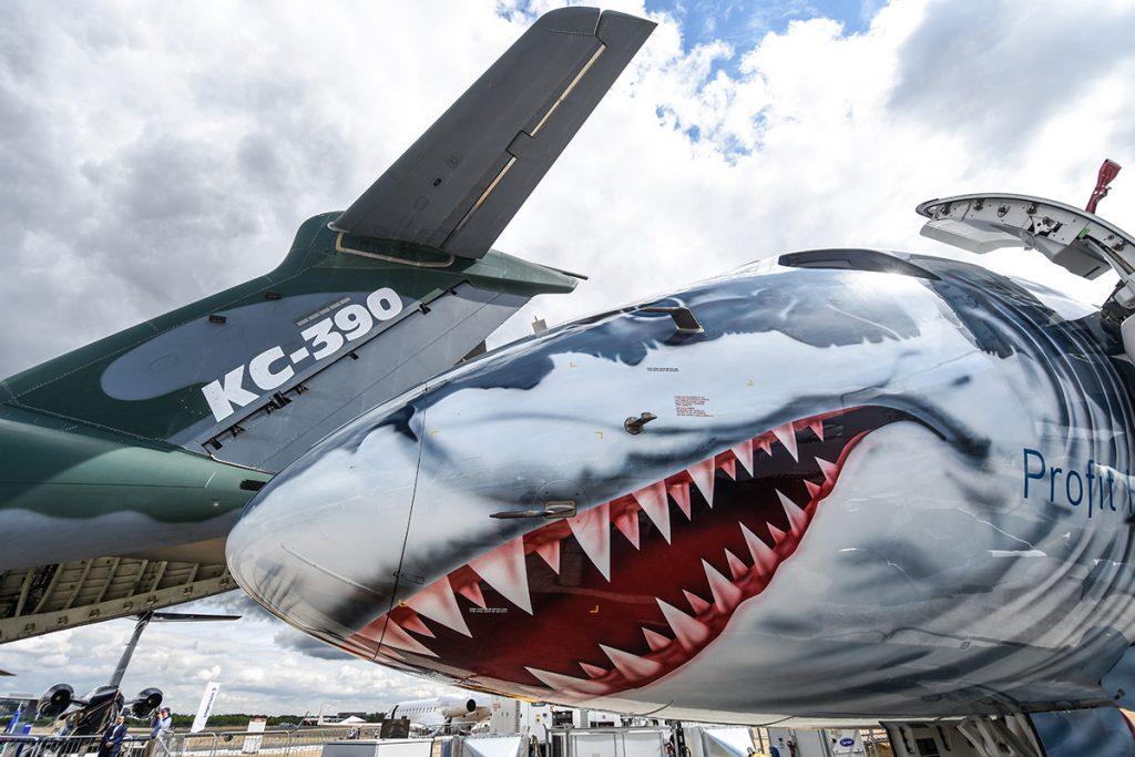 KC-390. Снимка: FIA /Авиосалон Фарнбъро/