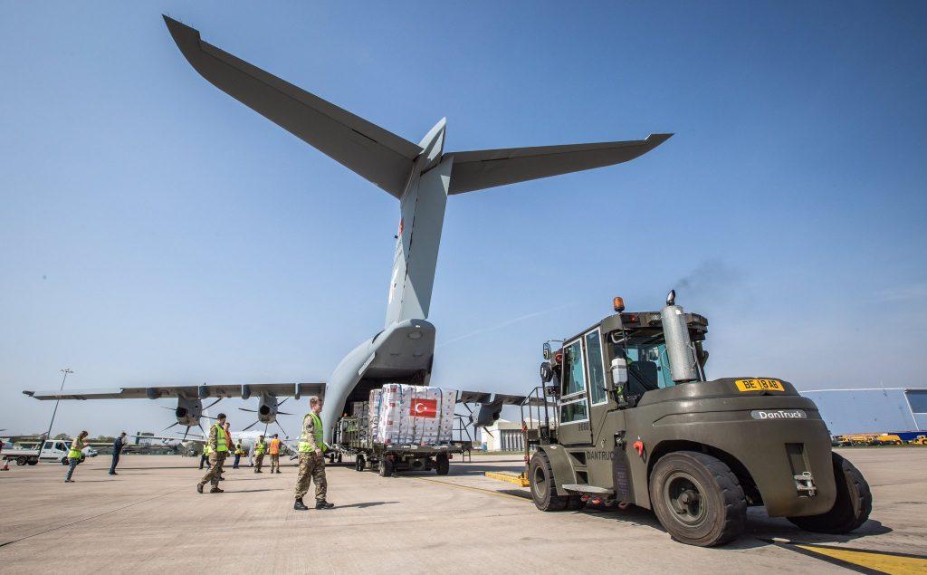 A400M на ВВС на Турция. База Бриз Нортън на Кралските ВВС на Великобритания, 11 април 2020г. Снимка: ВВС на Великобритания