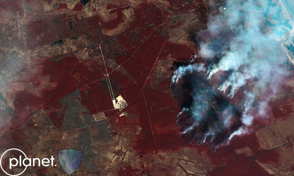 """Това е размерът на пожара в Чернобилската """"забранена зона"""" към 12 април 2020"""