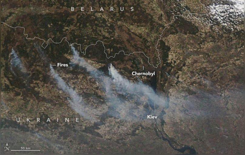 Така изглеждаха пожарите в началото - към 4 април 2020