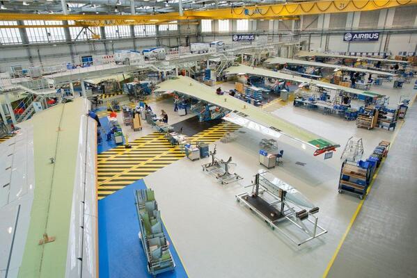 Производствената линия за компоненти на крилото в Бремен, Германия