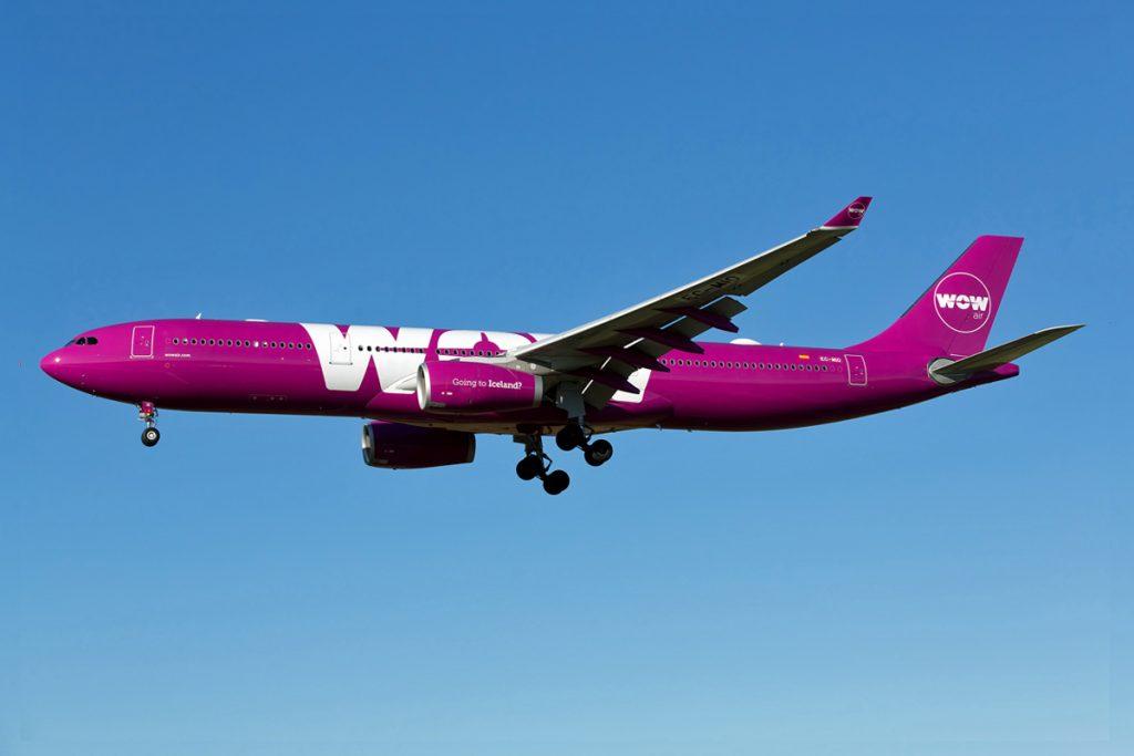За кратко пътническата WOW Air разполагаше и с 4 самолета А330-300