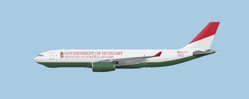 Графиките са илюстративни и не е ясно в каква окарска ще оперира самолета1 но едва ли ще е в търговската окраска на Wizz